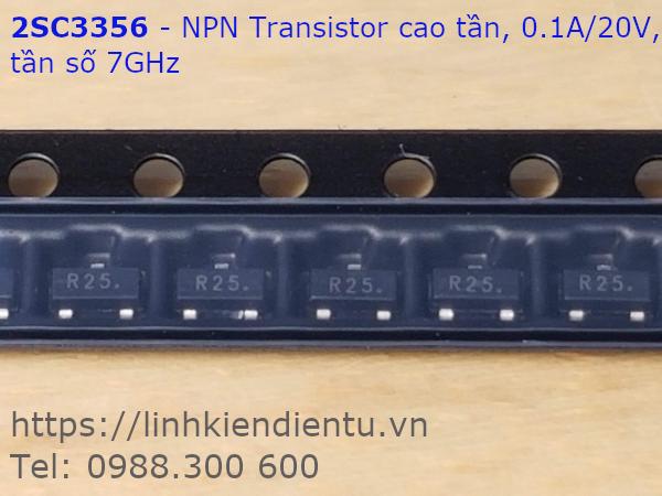 2SC3356-R25 20V/100mA, SOT-23 NPN Transistor cao tần (7GHz)