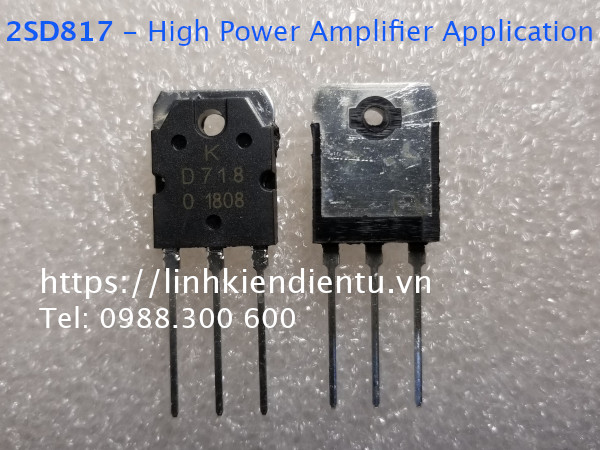 2SD718 - High Power Amplifier Application