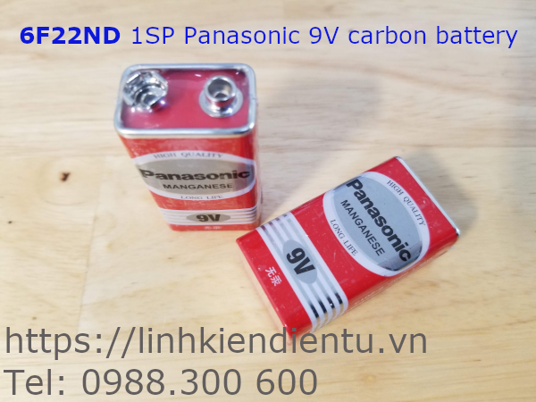 6F22ND 1SP Panasonic 9V carbon battery