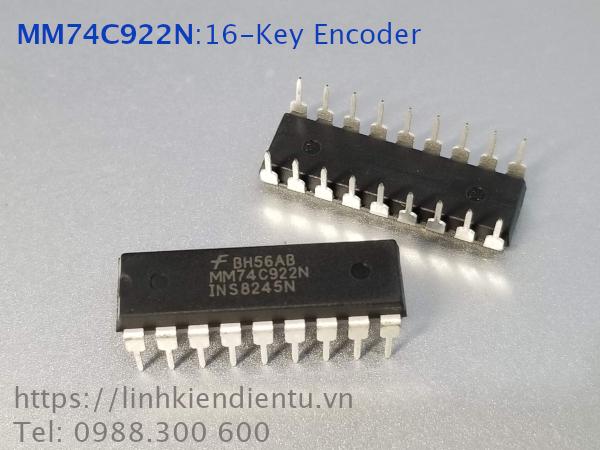 74C922N 16-Key Encoder - giải mã phím ma trận 4x4 phím