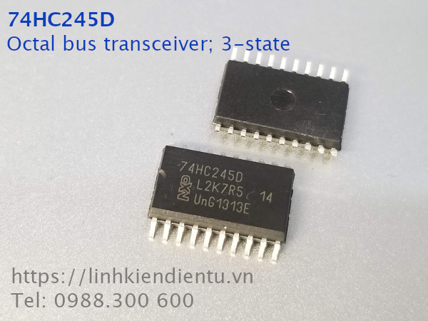 74HC245D:  8-bit transceiver with 3-state outputs