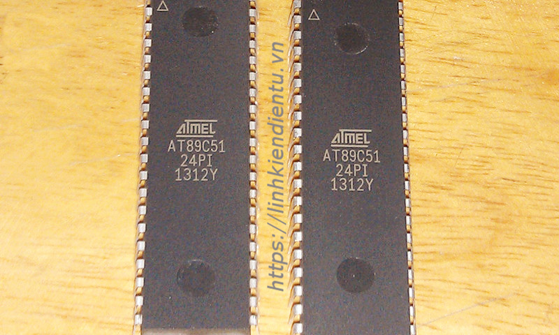 Atmel AT89C51-24PI 8Bit MCU 4KB flash 128 bytes RAM