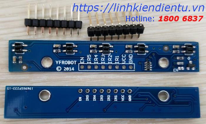 Module dò đường 5 led hồng ngoại QTR-5RC