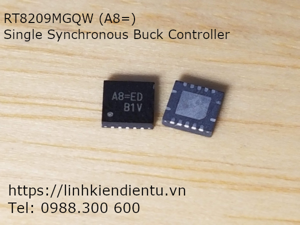 RT8209 RT8209MGQW, A8=ED: Single Synchronous Buck Controller