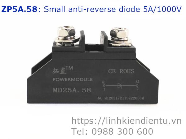 ZP5A.58 Small anti-reverse diode 5A/1000V