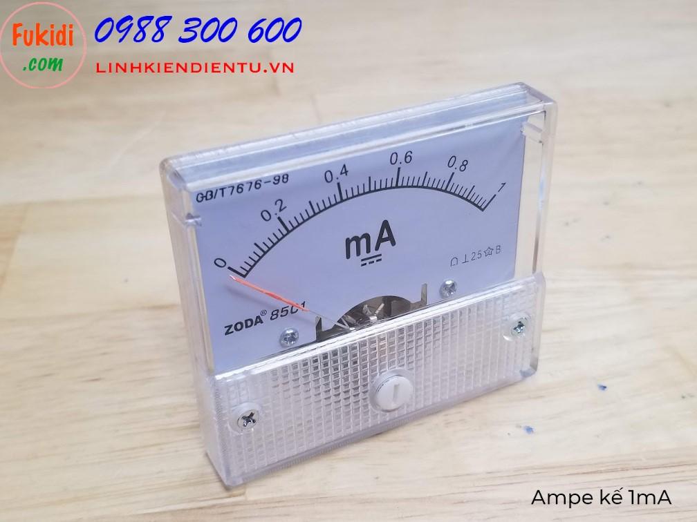 Ampe kế DC 1mA 85C1 đo dòng điện DC từ 0 đến 1mA