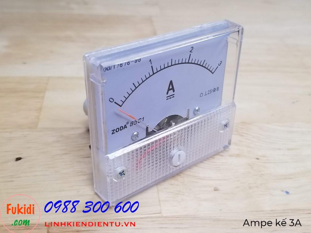 Ampe kế DC 3A 85C1 đo dòng điện DC từ 0 đến 3A