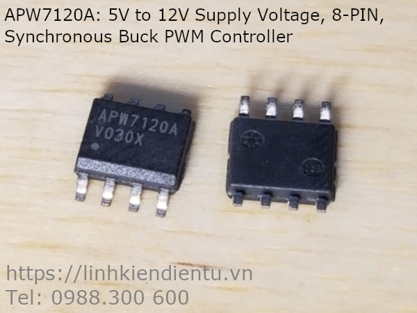 APW7120A 5V to 12V Supply Voltage, 8-PIN, Synchronous Buck PWM Controller