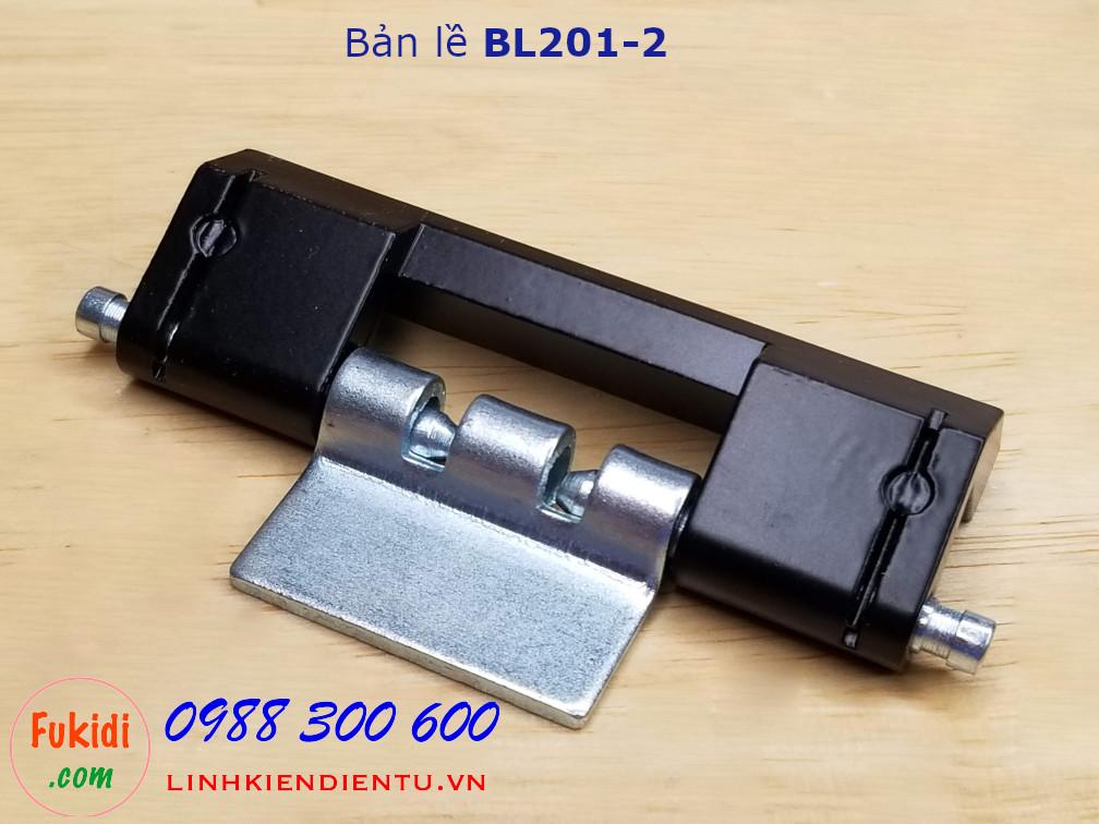 Bản lề BL201-2 chất liệu hợp kim kẽm, dài 75mm, màu đen