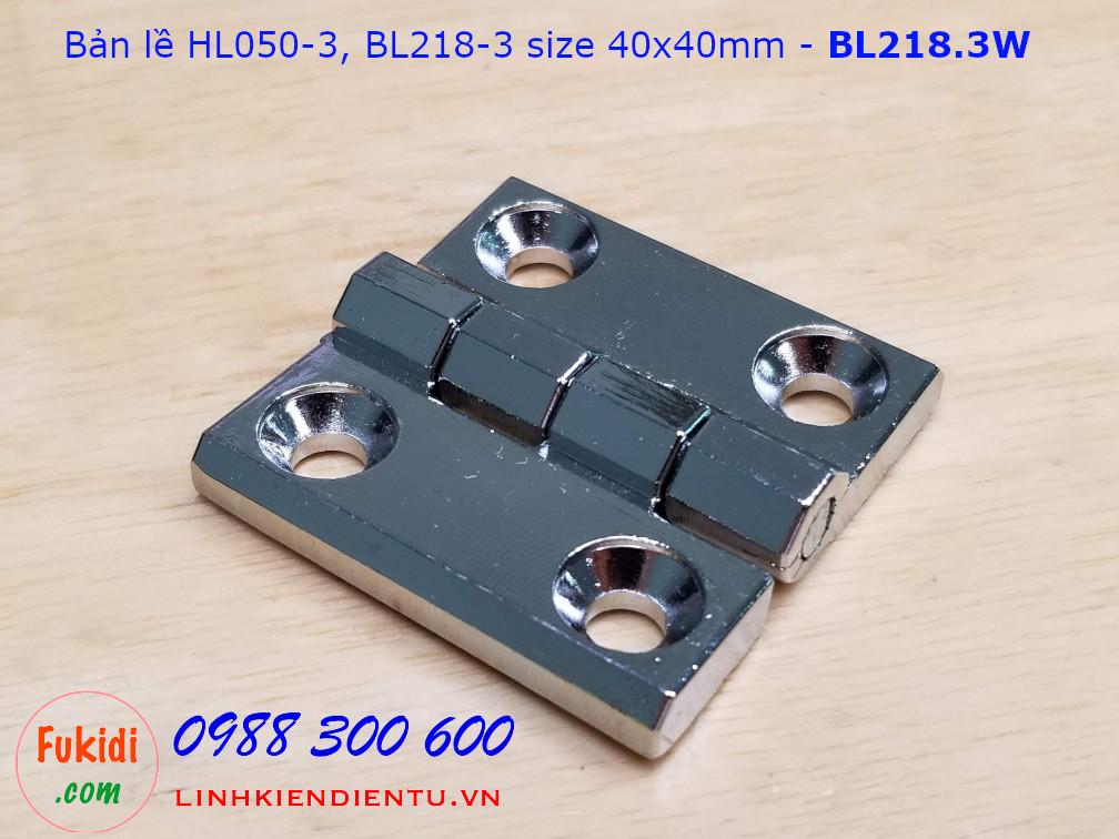 Bản lề tủ điện HL050-3 kích thước 40x40mm màu trắng CL218-3W