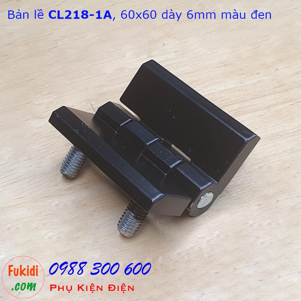 Bản lề hợp kim kẽm CL218-1A, 60x60, dày 6mm màu đen CL218-1AB
