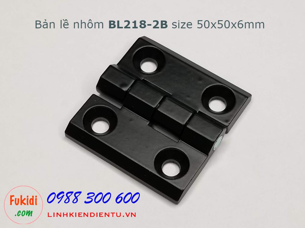Bản lề hợp kim nhôm BL218-2B (CL218-2B), size 50x50mm, dày 6mm màu đen