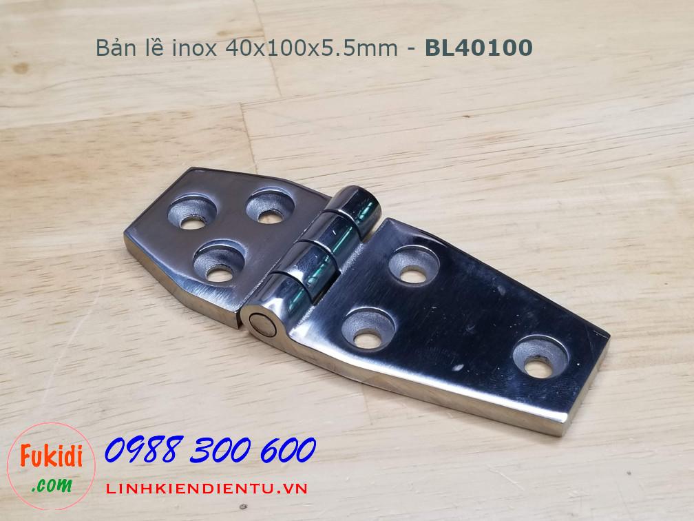 Bản lề inox 304 kích thước 40x100mm dày 5.5mm - BL40100