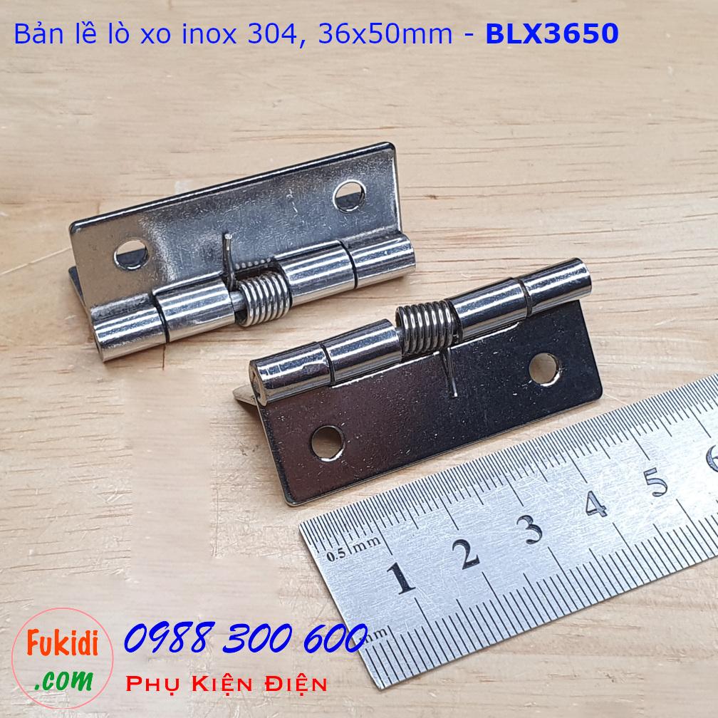 Bản lề lò xo, bản lề tự đóng cửa inox 304 size 36x50mm - BLX3650