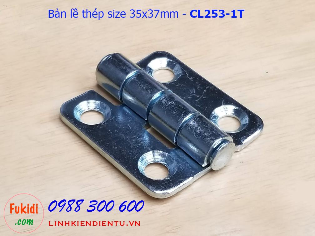 Bản lề tủ điện CL253-1 thép size 35x37mm - CL253-1T