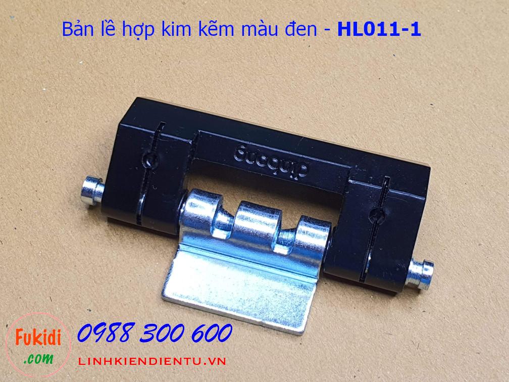 Bản lề tủ điện Hengzhu HL011-1 chất liệu hợp kim kẽm màu đen dài 75mm