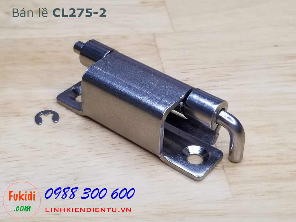 Bản lề tủ điện CL275-2 chất liệu SU304, size 95x21mm