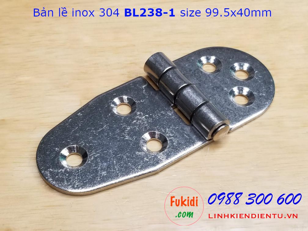 Bản lề inox 304 size 99.5x40mm dày 2.5mm - BL238-1