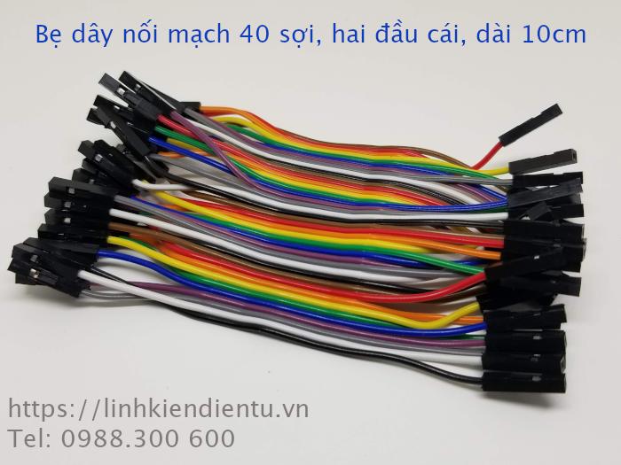 Bẹ dây nối board mạch 40 sợi - hai đầu cái, dài 10cm