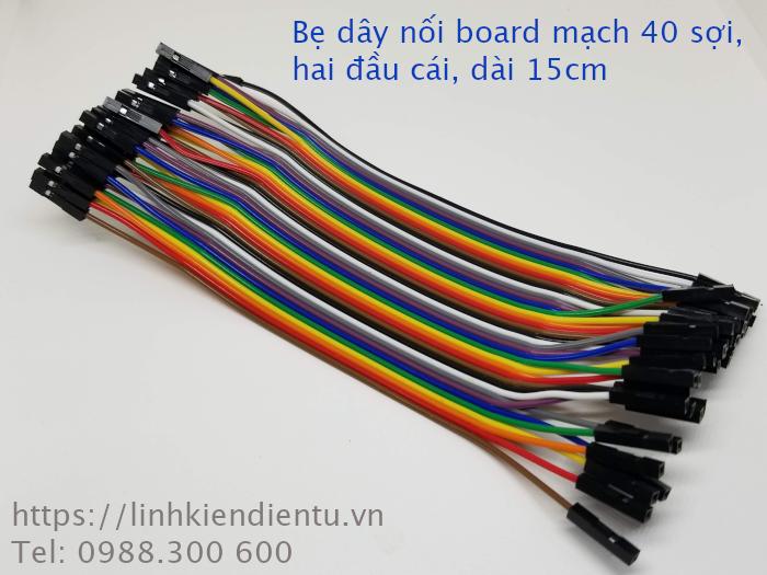 Bẹ dây nối board mạch 40 sợi - hai đầu cái, dài 15cm