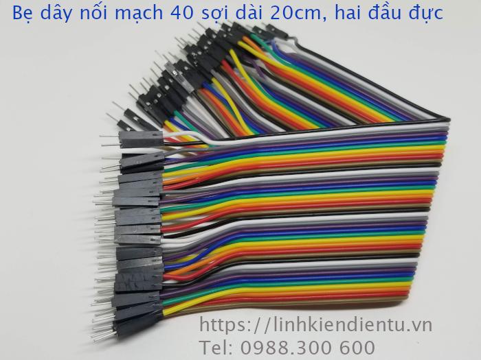 Bẹ dây nối board mạch 40 sợi - hai đầu đực, dài 30cm