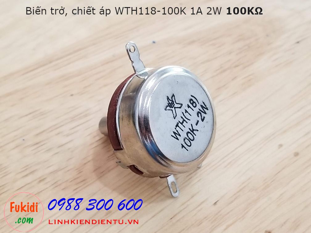 Biến trở, chiết áp WTH118-1A 2W 100K WTH118-100K