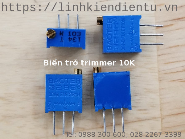 Biến trở Trimmer 10K: 3296W-103
