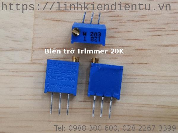 Biến trở Trimmer 20K: 3296W-203