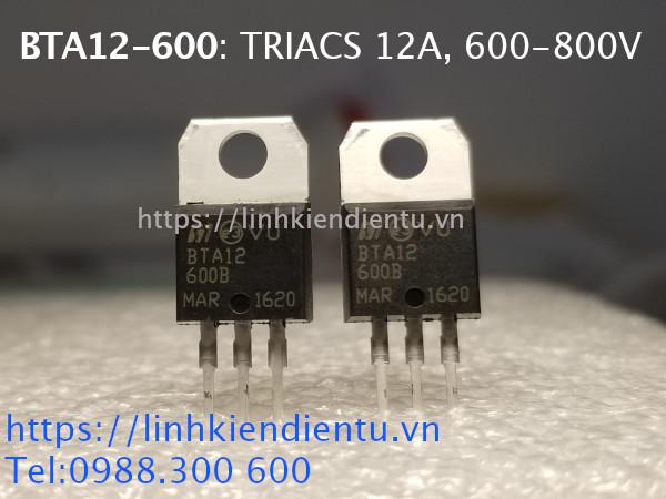 BTA12-600: Triac 12A, 600-800V