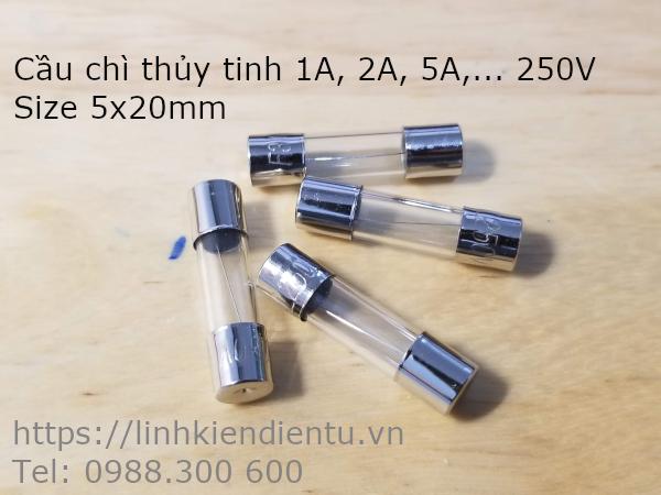Cầu chì thủy tinh 1A/250V size 5x20mm