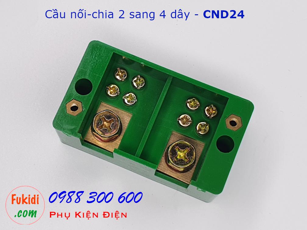 Cầu nối dây, cầu đấu chia dây điện, chia 2 sang 4 dây - CND24