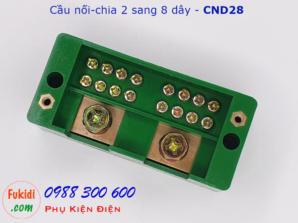 Cầu nối dây, cầu đấu chia dây điện, chia 2 sang 8 dây - CND28