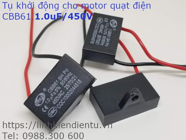 Tụ khởi động quạt điện CBB61 1.0uF 450VAC