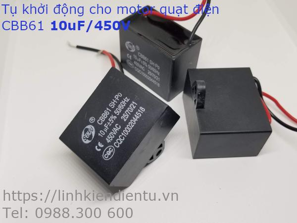 Tụ khởi động quạt điện CBB61 10uF/450VAC