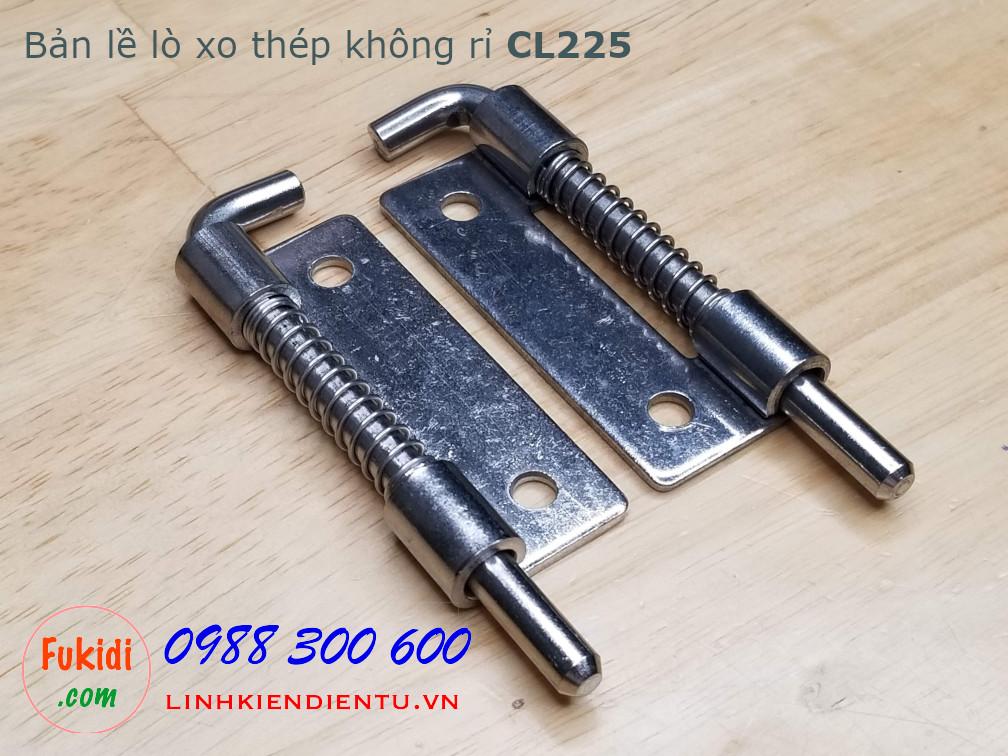 Bản lề tủ điện lò xo, thép không rỉ size 90x26.5mm dày 2mm, model CL225-1AS
