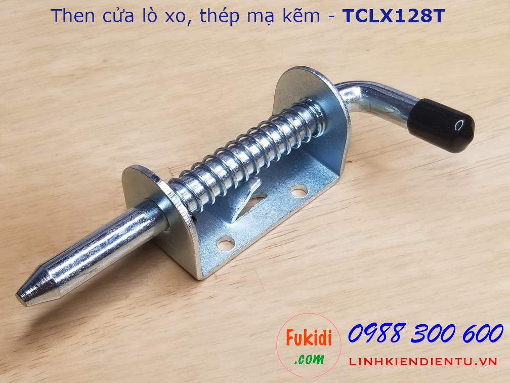Then cửa lò xo thép mạ kẽm dài 128mm - TCLX128T
