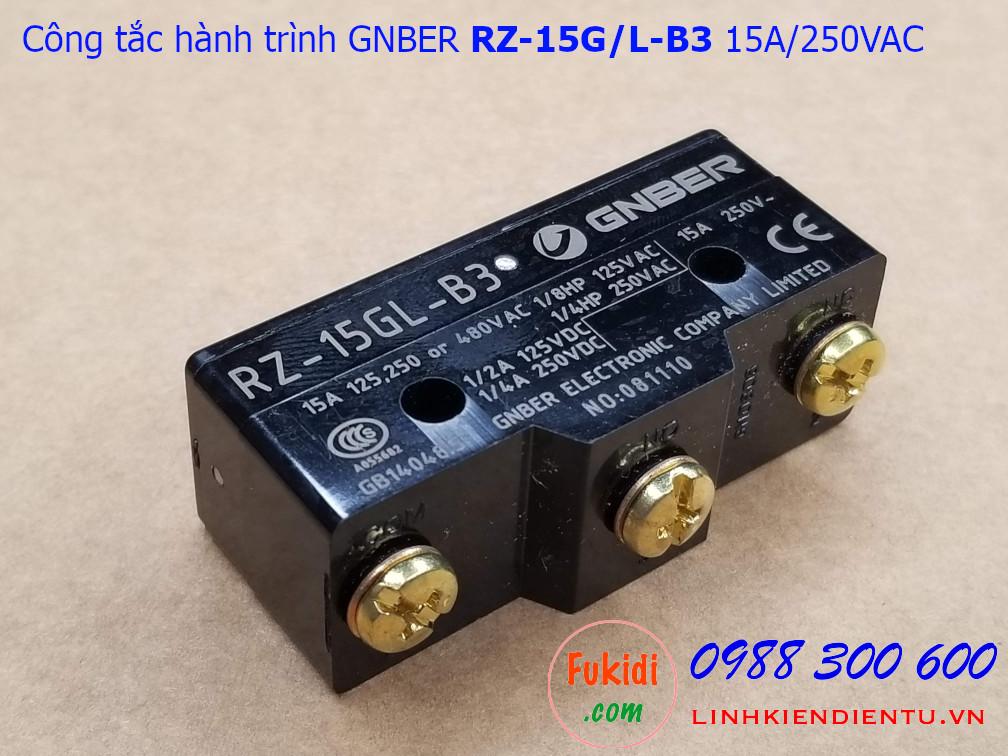 Công tắc hành trình Gnber RZ-15G-B3 RZ-15GL-B3 15A/250VAC