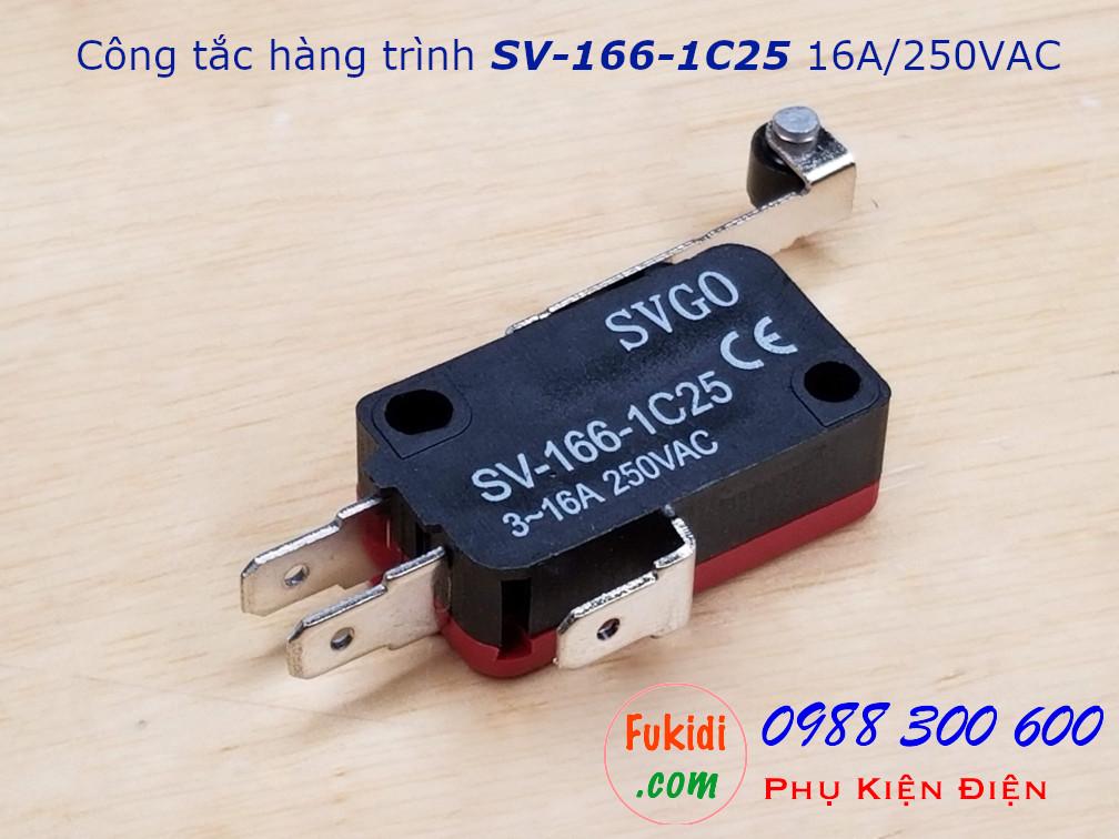 Công tắc hành trình SVGO SV-166-1C25, 16A/250V