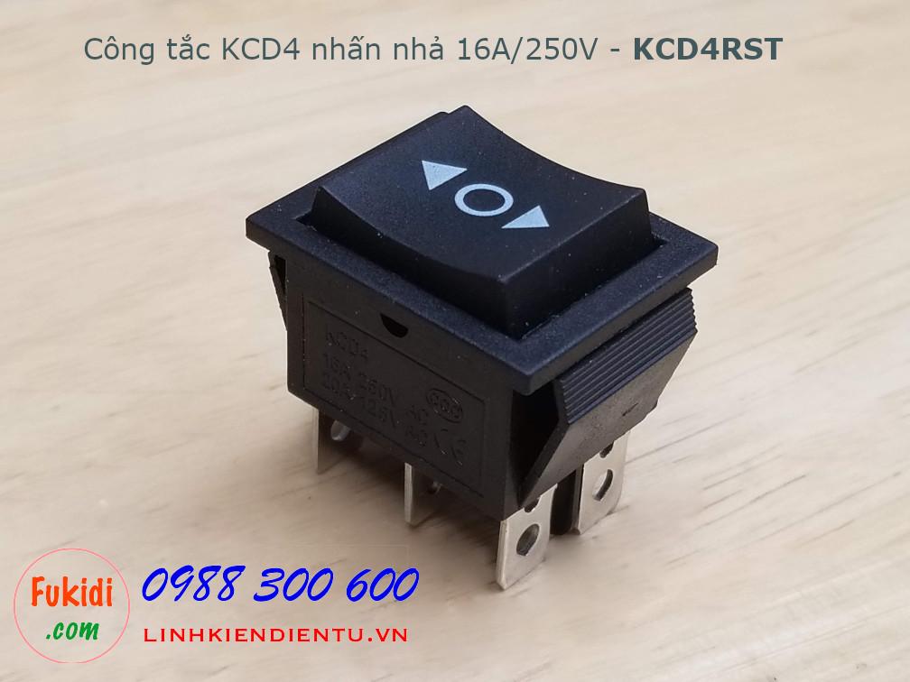 Công tắc KCD4 hai nút nhấn nhả 16A/250V - KCD4RST