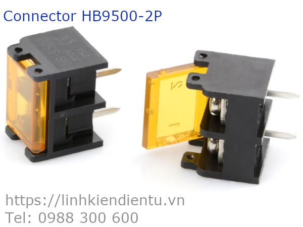 Connector HB-9500-2P chân 9.5mm, có nắp che