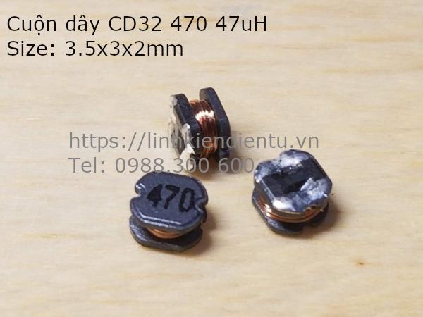 Cuộn cảm CD32 470 47uH 3.5x3x2mm