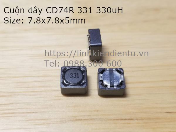 Cuộn dây lọc nguồn CD74R 331 330UH size 7.8x7.8x5mm