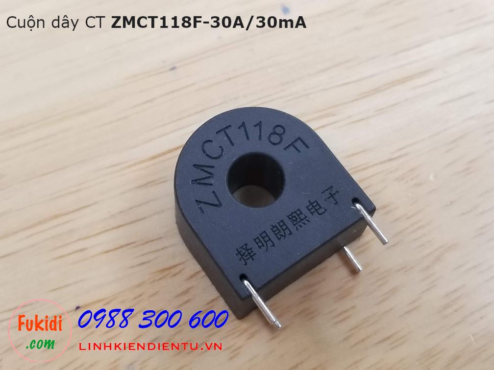 Cuộn dây CT ZMCT118F 30A/30mA