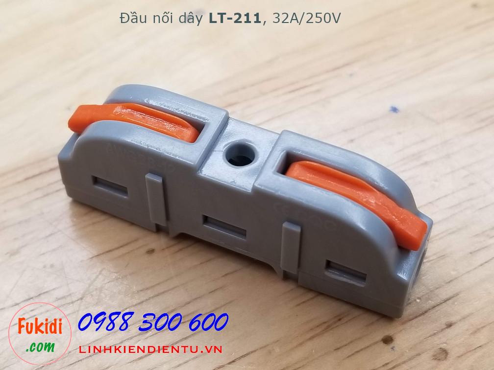 Cút nối dây, đầu nối hai cặp dây điện SPL-221 LT-211 32A 250V