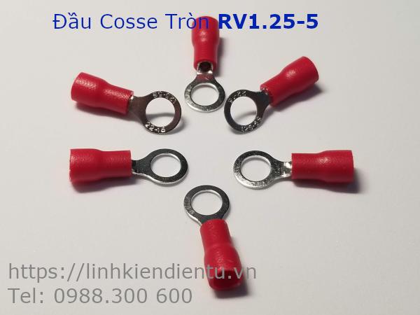 Đầu Cosse Tròn RV1.25-5 màu đỏ