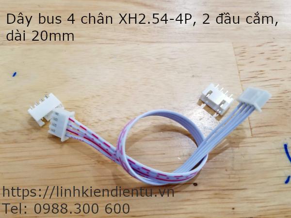 Dây bus XH2.54-4P hai đầu, dài 20cm