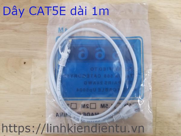 Dây cáp mạng máy tính CAT5E dài 1m