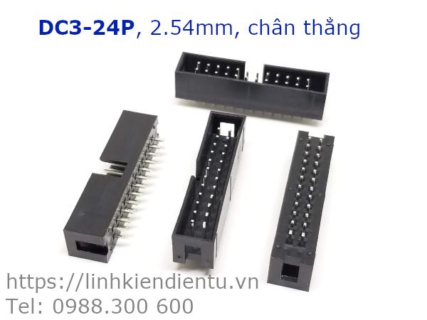 DC3-24P 12x2P DIP 2.54mm chân thẳng