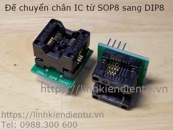 Socket chuyển chân IC từ SOP8 sang DIP8