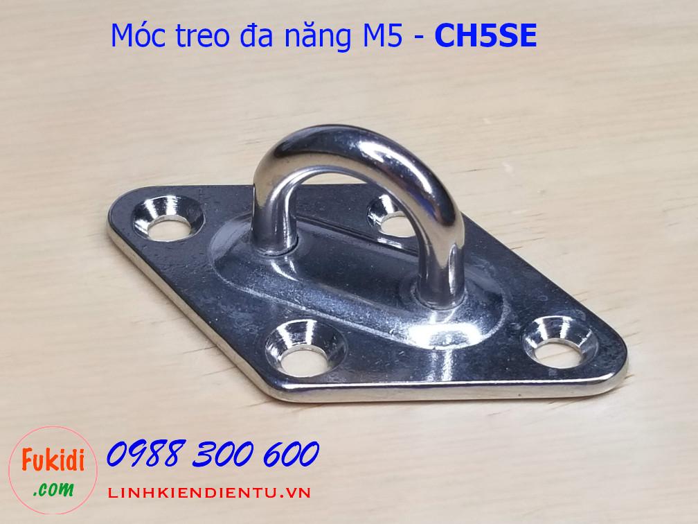 Móc treo ghế đu, xích đu, treo quạt trần inox 316 M5 - CH5SE
